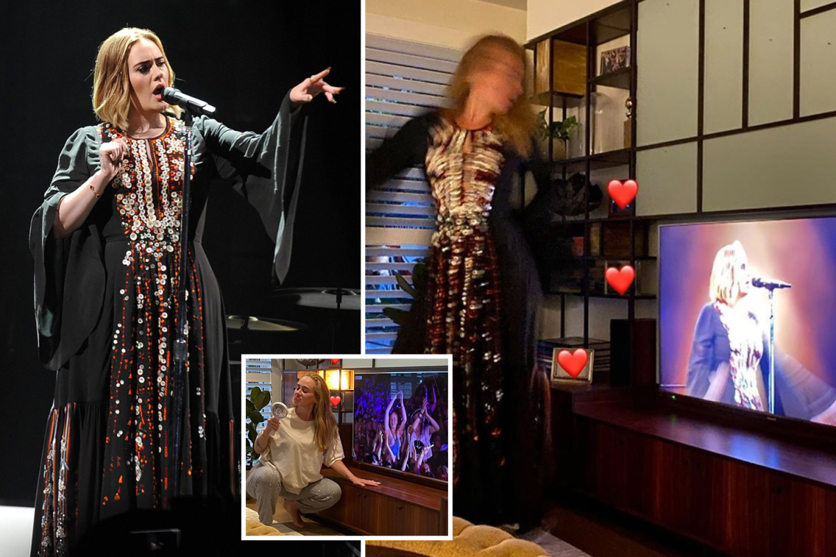 Adele shows off 7st weight loss and flirts with Skepta in 2016 Glastonbury dress