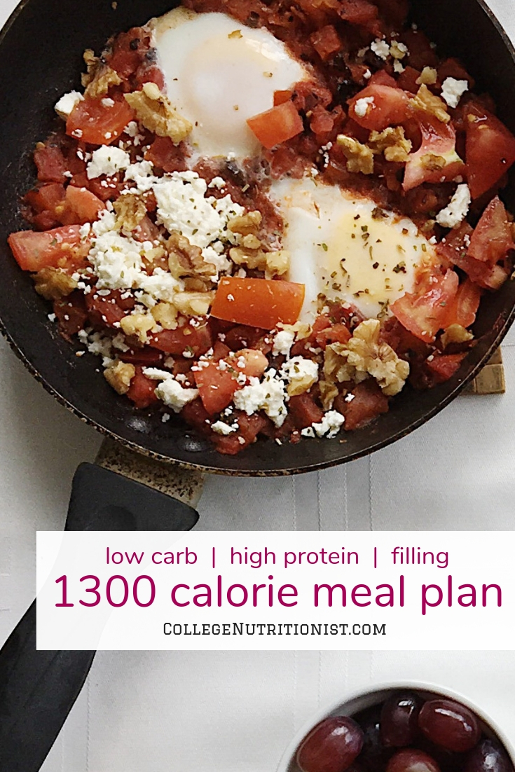 1300 Calorie Low Carb Mediterranean Meal Plan — The College Nutritionist