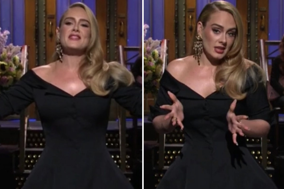 Adele shows off stunning 100lb weight loss joking 'I only brought half of me'