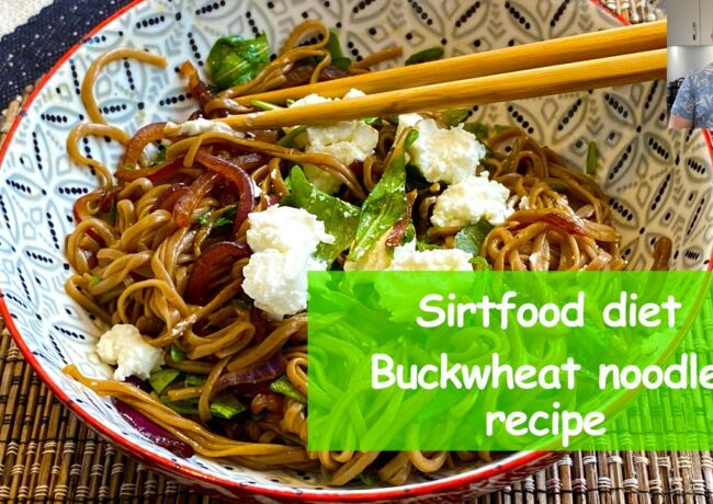 Buckwheat noodles sirtfood diet recipes – buckwheat noodles with goat chess