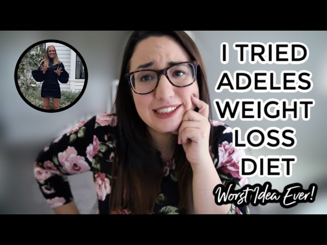 I Tried Adeles Weight Loss Diet- Sirtfood Diet (WORST IDEA EVER)