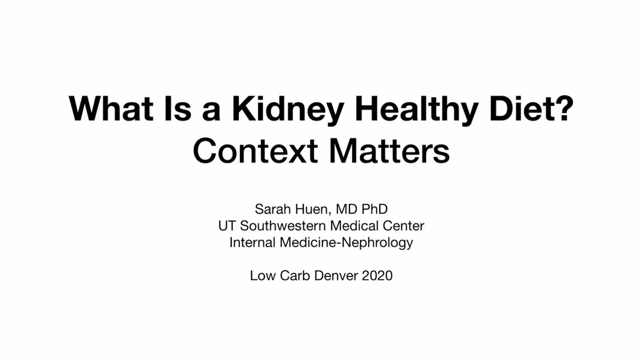 Dr. Sarah Huen – 'What Is a Kidney Healthy Diet? Context Matters'