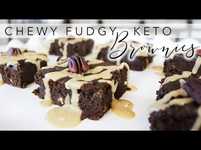 The Chewiest Fudgy KETO Brownies Recipe | The hidden ingredients is found in the beautiful chew!