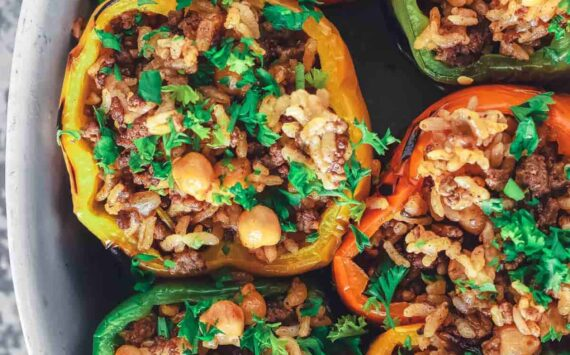 Greek Stuffed Peppers (Dairy and Gluten Free)