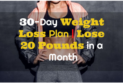 30-Day Weight Loss Plan – Lose 20 Pounds in 30 Days Workout Plan