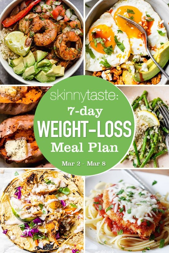 7-Day Weight-Loss Meal Plan (March 9-15)