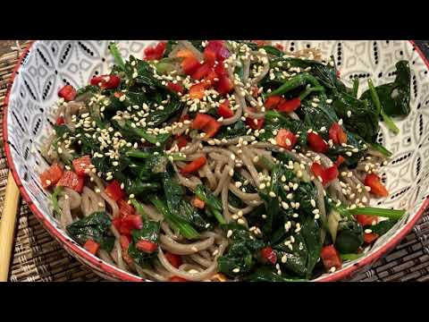 Sirtfood diet recipe – Soba (buckwheat) noodles with spinach – Wagamama style recipe