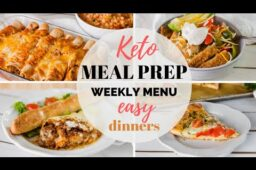EASY KETO MEAL PREP RECIPES | EASY KETO DINNER RECIPES AND WEEKLY MENU