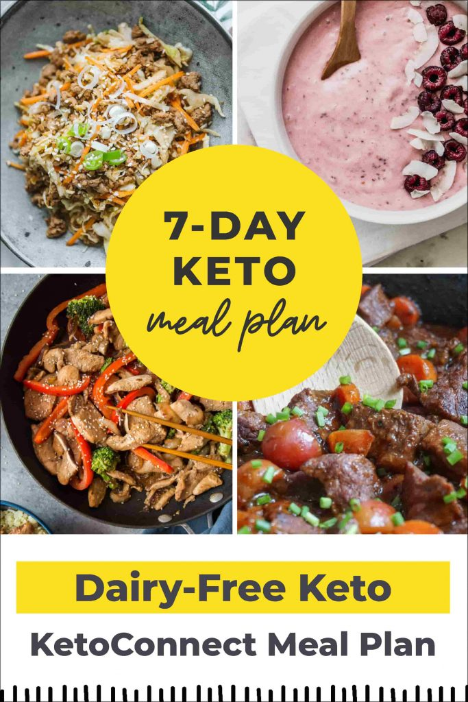 Dairy Free 7 Day Keto Meal Plan + Shopping List