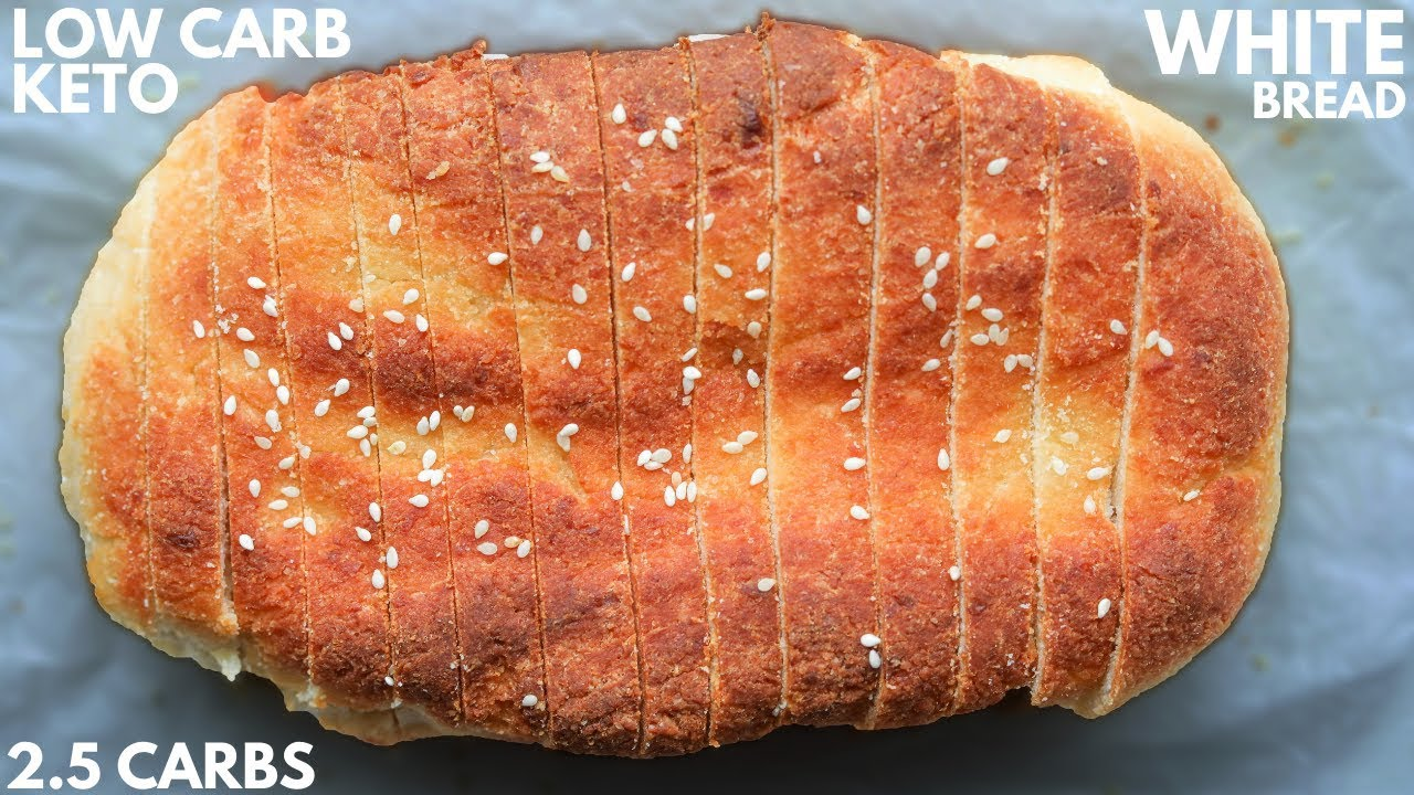 KETO BREAD   The BEST Easy Low Carb White Bread Recipe For The Keto Diet