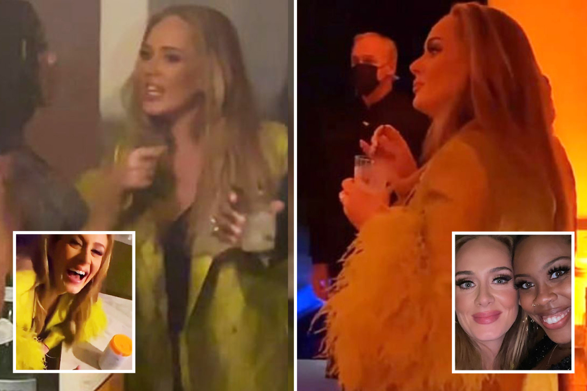Adele looks slimmer than ever after 7st weight loss at Oscars party