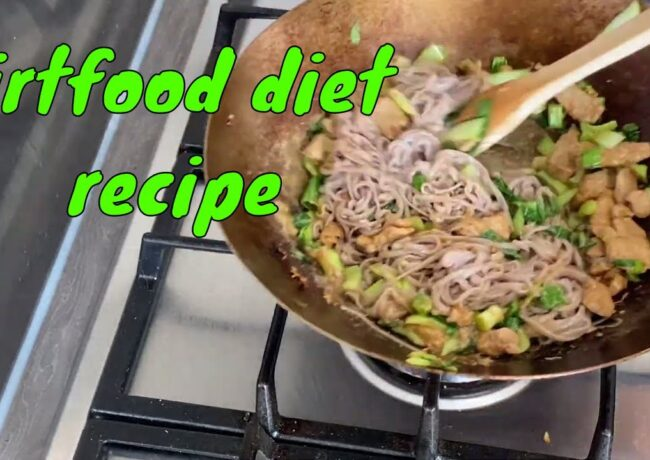 Soba (buckwheat) noodles with marinated pork recipe. Sirtfood diet. Wagamama style recipe.