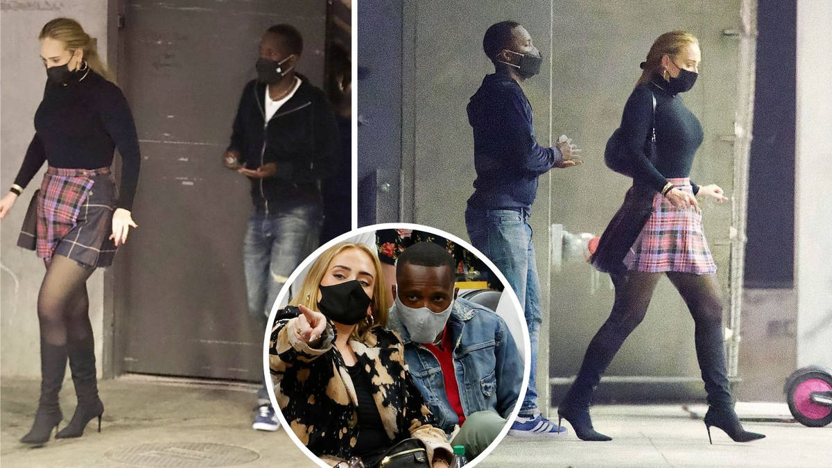 Adele pictured leaving dinner with new boyfriend in rare LA sighting