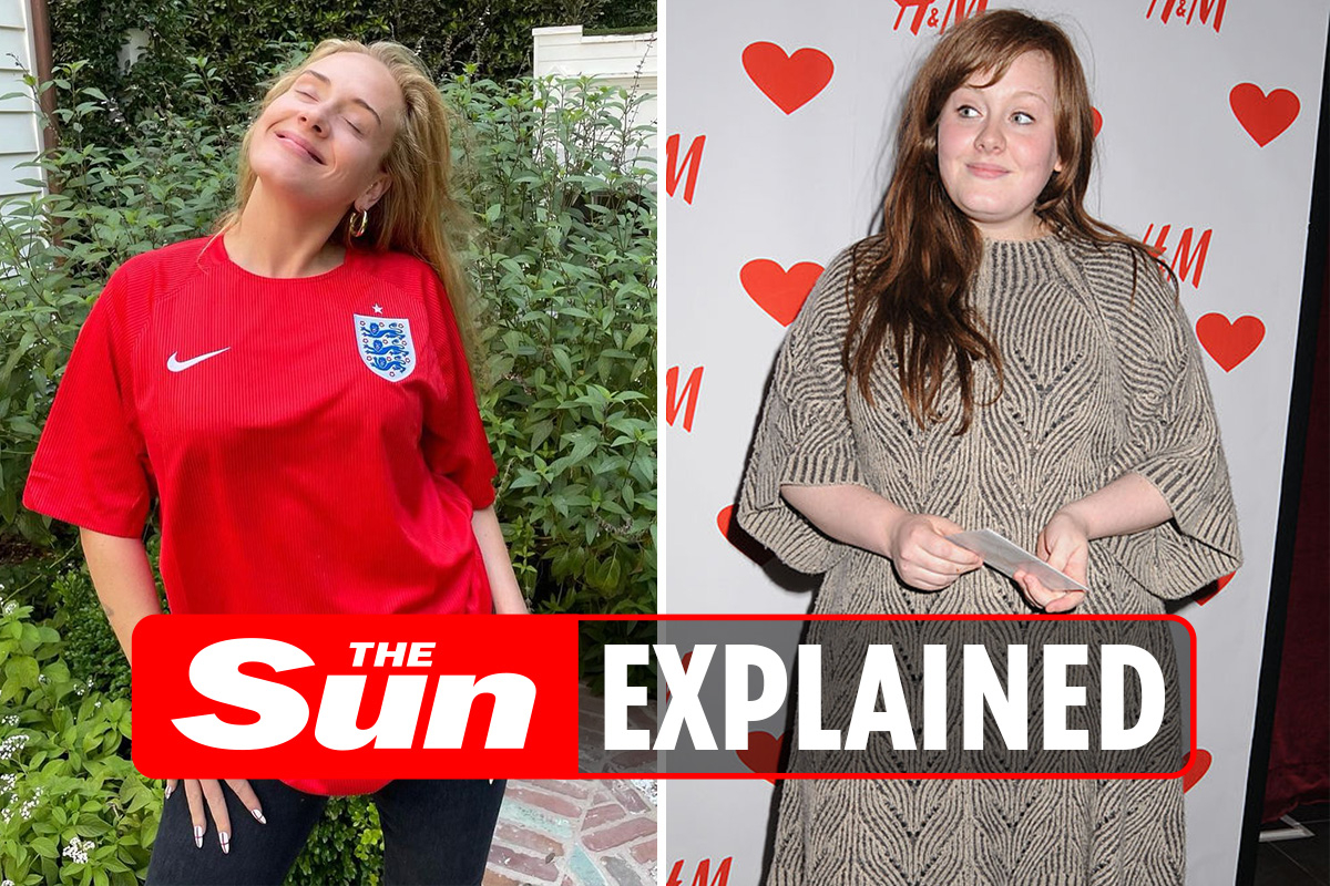 What did Adele look like before and after weight loss?